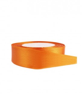 Ruban Satin Double Face - 25mm - Rouleau de 25 mètres - Orange