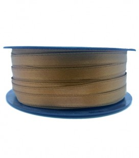 Double Side Satin Ribbon - 3/4 (6,5 cm) - Rolle 25 und 100 Meter - Kaffee Farbe