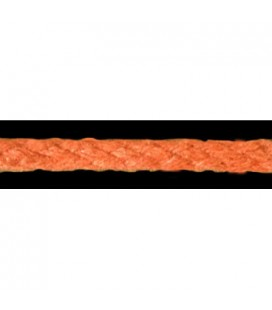Cordon 100% Coton - Couleur orange - Rouleau 100m