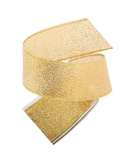 25mm Lurex ribbon - Gold color - Piece 25 meters
