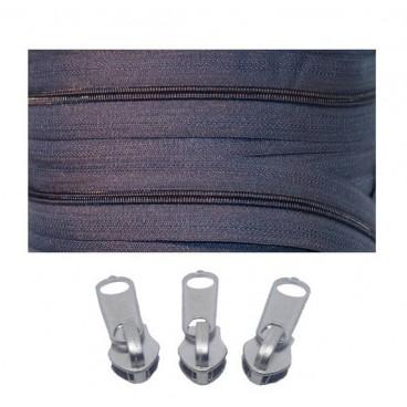 Pack 7 Zipper Rolls Mesh 3 + 3000 Zipper Latches