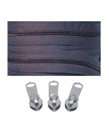 Pack 7 Zipper Rolls Mesh 5 + 3000 Zipper Latches