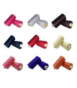 Pack Fil polyester 1000 mètres - 18 boîtes (1 boîte par couleur) - 18 couleurs