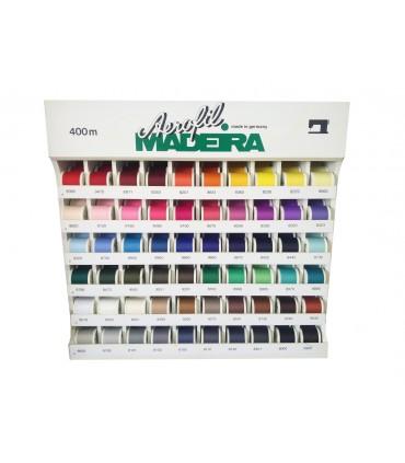 Mueble expositor Aerofil Maderia - 300 bobinas en 60 colores.