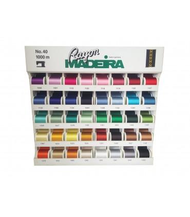 Mueble expositor Rayón Nº40 Madeira - 200 bobinas en 40 colores.