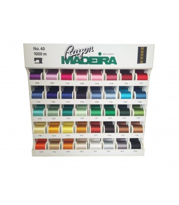 Rayón No. 40 Madeira display case - 200 reels in 40 colors.