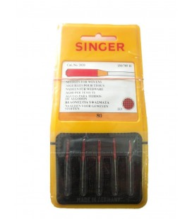 Agujas Máquina Coser Singer - Tamaño 80 - 130/705 H - 10 blister de 5uds.