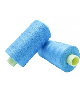 Polyester thread 1000m - Box of 6 pcs. - Sky blue color