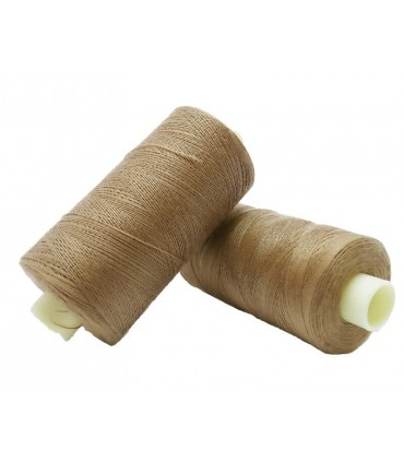 Polyester thread 1000m - Box of 6 pcs. - Soft brown color