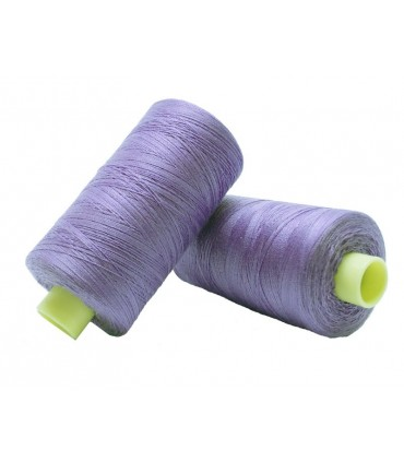 Polyester thread 1000m - Box of 6 pcs. - Lilac color