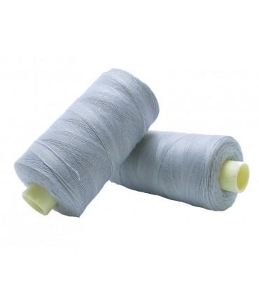 Fil polyester 1000m - Boîte de 6 pièces - Couleur gris clair