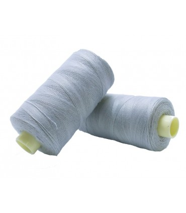 Polyester thread 1000m - Box of 6 pcs. - Light Gray Color