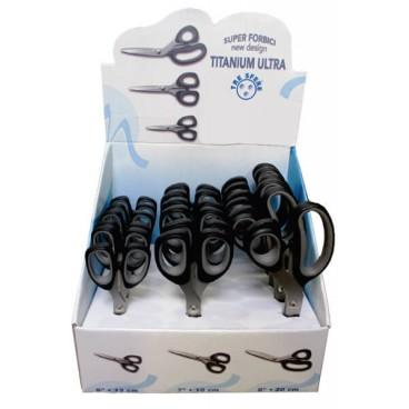 Titanium Scissors Display - 3 sizes - 18 units