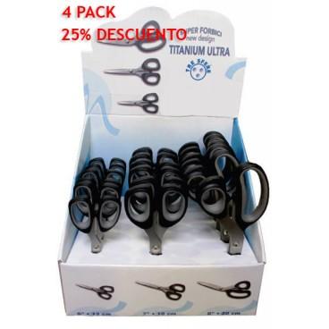 Expositor Tijeras Titanium - 3 tamaños - 18 unidades