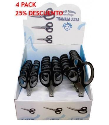 [Promoción] Expositor Tijeras Titanium - 3 tamaños - 72 unidades