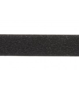 Couture Velcro 2,5cm marque Loop Hook - Couleur noire ONE SIDE (SMOOTH)