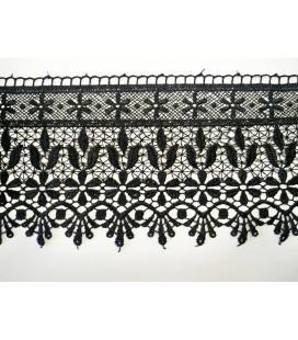 Puntilla de Guipur - Ancho pieza 12cm - 4 Colores - Pieza de 8,5 metros