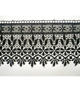 Guipure lace - piece width 12cm - 4 colors - piece of 8.5 meters
