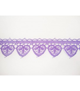 Guipure lace - piece width 3cm - 4 colors - piece of 8.5 meters