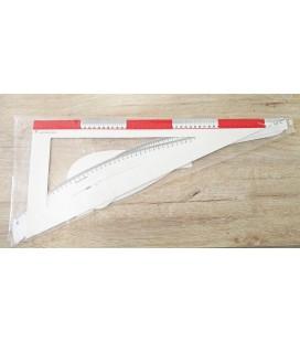 Kit 5 reglas para modistas en plástico flexible