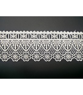 Guipure-Spitze - Breite 7,5 cm - 5 Farben - Stück von 8,5 Metern