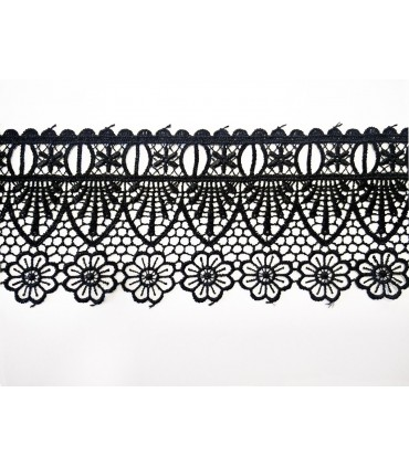 Guipure lace - piece width 7.5 cm - 5 colors - piece of 8.5 meters