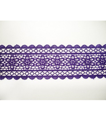 Guipure lace - piece width 5,5 cm - 5 colors - piece of 8.5 meters