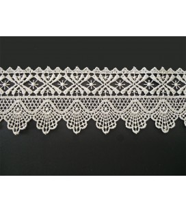 Guipure lace - piece width 5,5 cm - 4 colors - piece of 8.5 meters