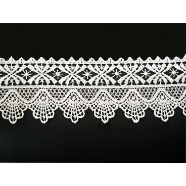 Guipure lace - piece width 5,5 cm - 4 colors - piece of 8.5 meters