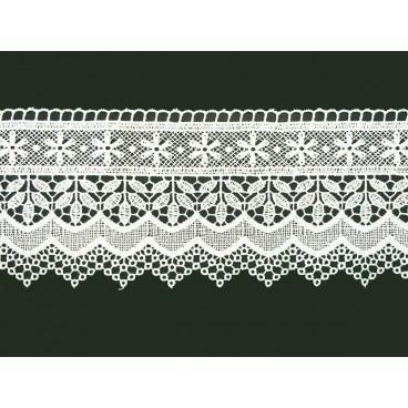 Guipure-Spitze - Breite 10 cm - 4 Farben - Stück von 8,5 Metern