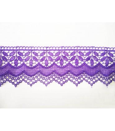 Puntilla de Guipur - Ancho pieza 6,5 cm - 4 Colores - Pieza de 8,5 metros