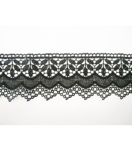 Guipure lace - piece width 6,5 cm - 4 colors - piece of 8.5 meters