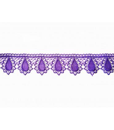 Guipure lace - piece width 3,5 cm - 5 colors - piece of 8.5 meters
