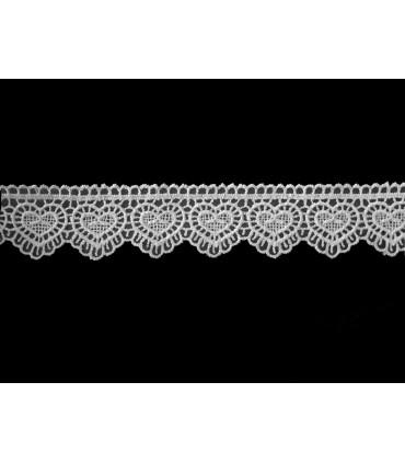Guipure-Spitze - Breite 3 cm - 5 Farben - Stück von 8,5 Metern