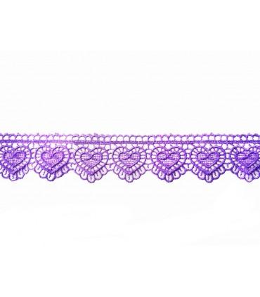 Guipure lace - piece width 3 cm - 5 colors - piece of 8.5 meters
