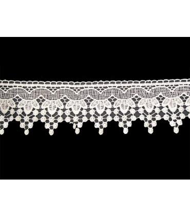 Guipure lace - piece width 6 cm - 5 colors - piece of 8.5 meters