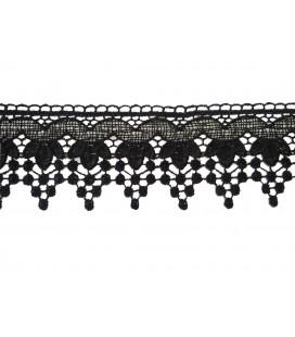 Dentelle de guipure - pièce largeur 6 cm - 5 couleurs - pièce de 8,5 mètres