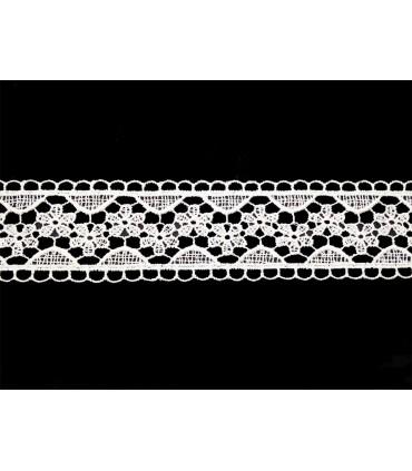 Dentelle de guipure - pièce largeur 3,5 cm - 5 couleurs - pièce de 8,5 mètres