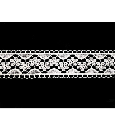 Guipure lace - piece width 3,5 cm - 5 colors - piece of 8.5 meters