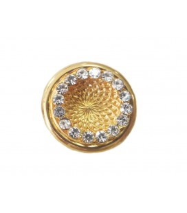Metallic Button 6254 - 3 sizes (2cm, 2,4cm and 3cm)