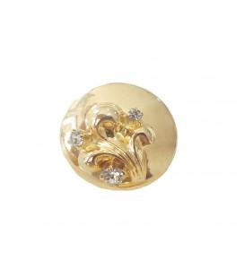 Bouton métallique 6239 - 2 tailles (2,2 cm et 2,5 cm)