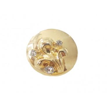 Metallic Button 6239 - 2 sizes (2,2 cm and 2,5 cm)