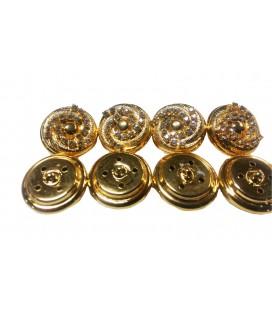 Bouton métallique 6234 - 3 tailles (1,7 cm, 2,3 cm et 3 cm)