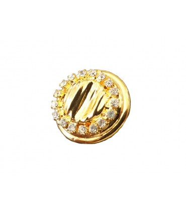 Metallic Button 6235 - 2 sizes (2.4 cm and 3 cm)