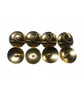 Metallknopf 6025 - 3 Größen (1,7 cm, 2,2 cm und 2,7 cm)