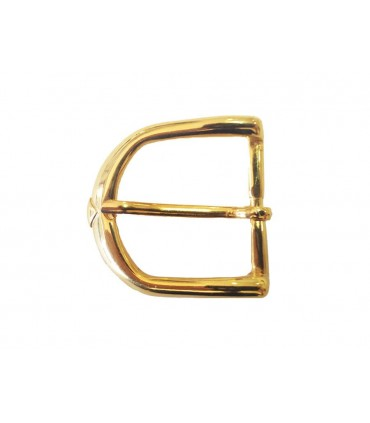 Metallic Buckle Gold Color - 34mm x 32mm - Bag of 6 Units