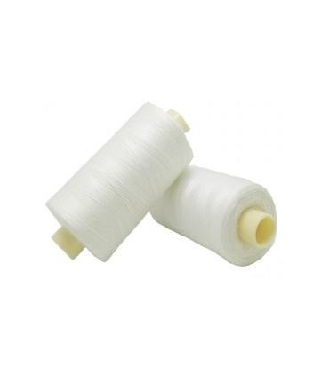 Fil polyester 1000m - Boîte de 6 pièces - Couleur blanche cassée