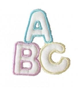 Pegatina Termoadhesiva Infantil Letras A B Y C - 12 unidades