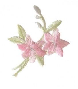 Autocollant thermoadhésif à fleurs roses - 12 unités