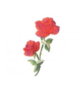 Aufkleber Thermoadhäsive Rosen - 6 Stück - 3 Farben